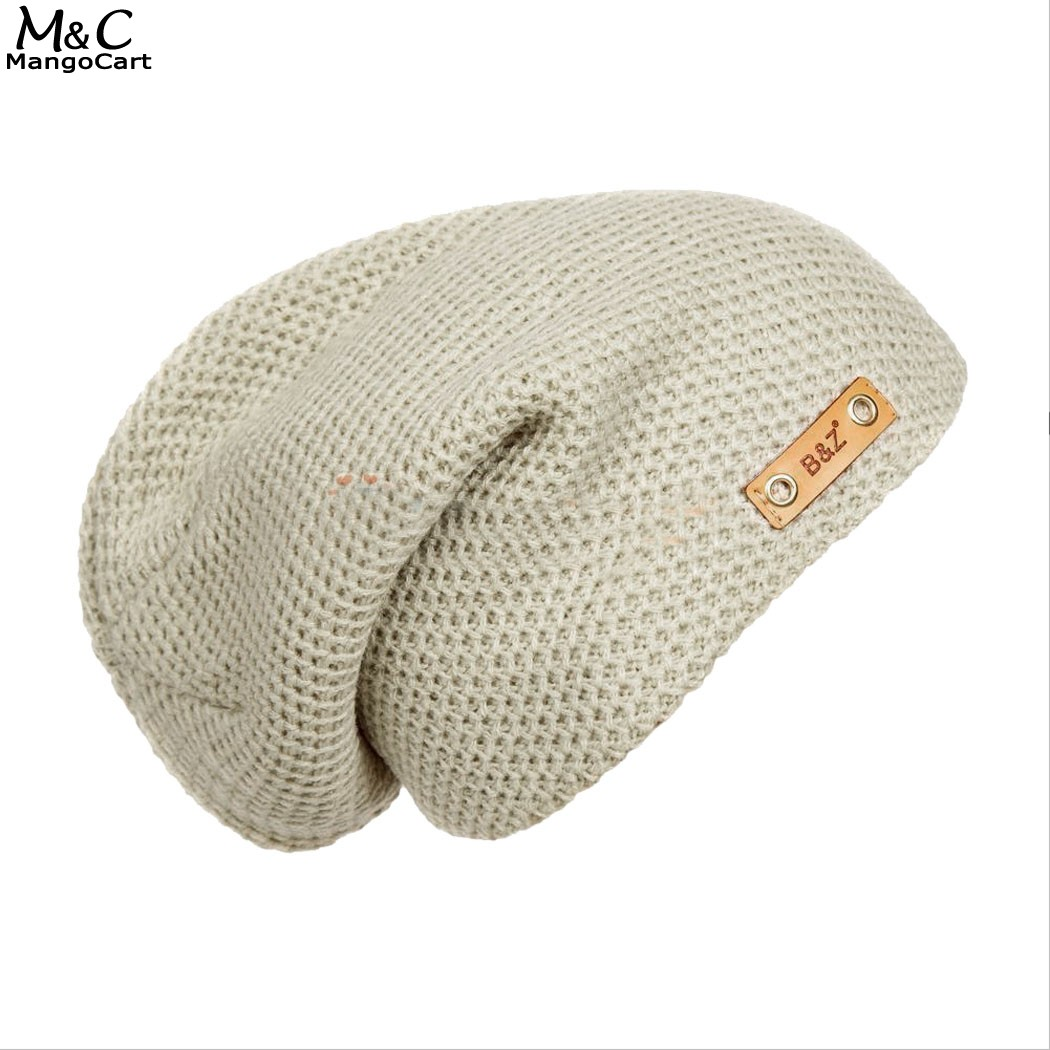 2017 High Quality Warm Wool Caps Knitted Beanies Hat Scarf Winter Skullies Cap For Woman and Men Free Shipping 58  цены