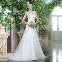 Lover Kiss Vestidos De Noiva Women S Modest Dresses Wedding With Floral Lace Tulle Skirt Beaded