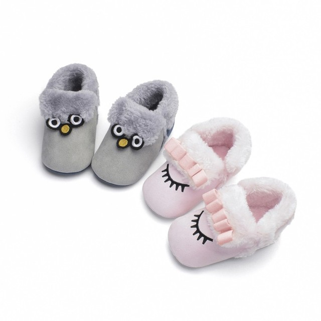 a5a082690f11 Toddler Shoes Cartoon Baby Crib Homing Boots Plus Velvet Soft Bottom Baby  Shoes Autumn Winter Soft Sole Anti-slip Snow Boots
