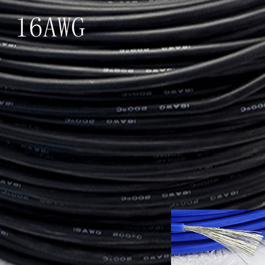 20metre 16awg Soft Silicone Cable 127mm2 Ultra Flexiable Test Line Wire Buy Power Cablervvp Flexible 10metre High Temperature