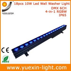 Image 3 - 4 stks/partij 18X10 w 4 IN 1 Outdoor Dmx LED Wall Washer Licht voor Tuin Hotel Bruiloft party Achtergrond IP65 Waterdichte Lamp