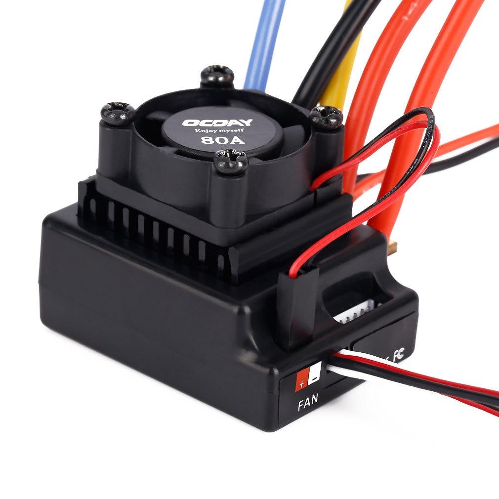 1/10 80A Adjustable Sensored/Sensorless Brushless ESC For Car Truck