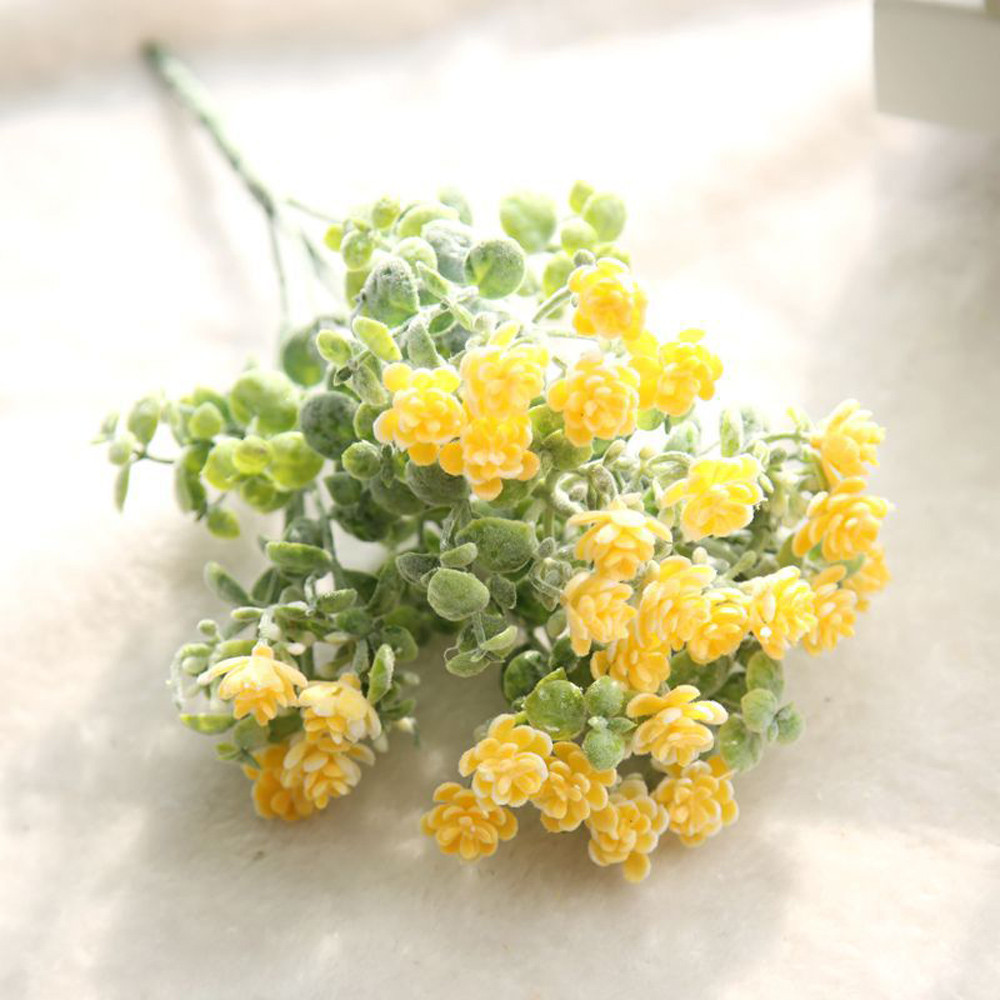 Fake flowers bedroom Living room Artificial Fake Flowers Milan Camellia Floral Wedding Bouquet Party Modern Drop shipping June7