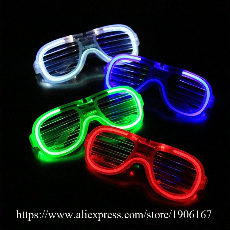 Newest El Wire Party Sunglasses Colorful LED Lighting Glasses Flashing Led Luminous Stage Halloween Christms Gift Glasses