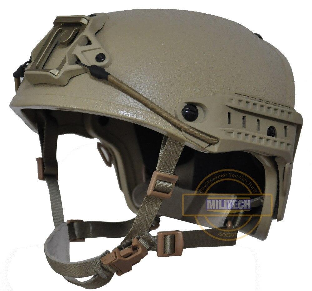 MILITECH M/LG DE Tan NIJ niveau IIIA 3A Air Cadre Aramide Bulletproof Airframe Casque Avec Balistiques Rapport D'essai 5 ans de Garantie