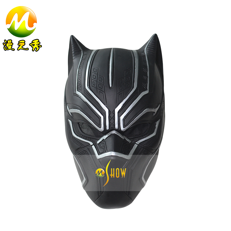 Captain America Black Panther Helmet Civil War Cosplay Black Panther Mask Replica Halloween Headwear Free Shipping