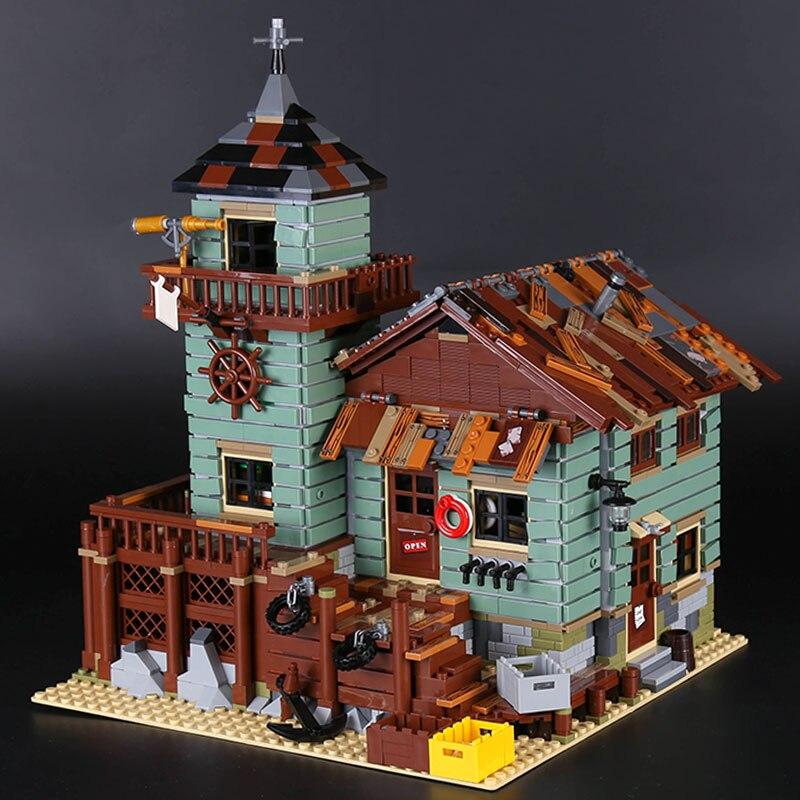 Lepin 16050 Véritable 2109 pcs GPM Série Le Vieux Magasin De Pêche Ensemble De Blocs De Construction Éducatifs de Briques LegoINGlys 21310 anniversaire