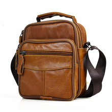 Small Mini Men Genuine Leather Messenger Bag Briefcase Male Handbag Brand Brown Boy Shoulder