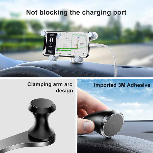 Baseus Car Phone Holder for iPhone Samsung Gravity Mount Holder Stand Dashboard Car Holder for Huawei Xiaomi Mobile Phone Holder 5