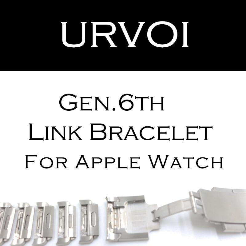URVOI braccialetto di collegamento banda per apple watch serie 4 3 2 1 cinghia per iWatch regolabile di alta qualità cinturino in acciaio inox gen.6