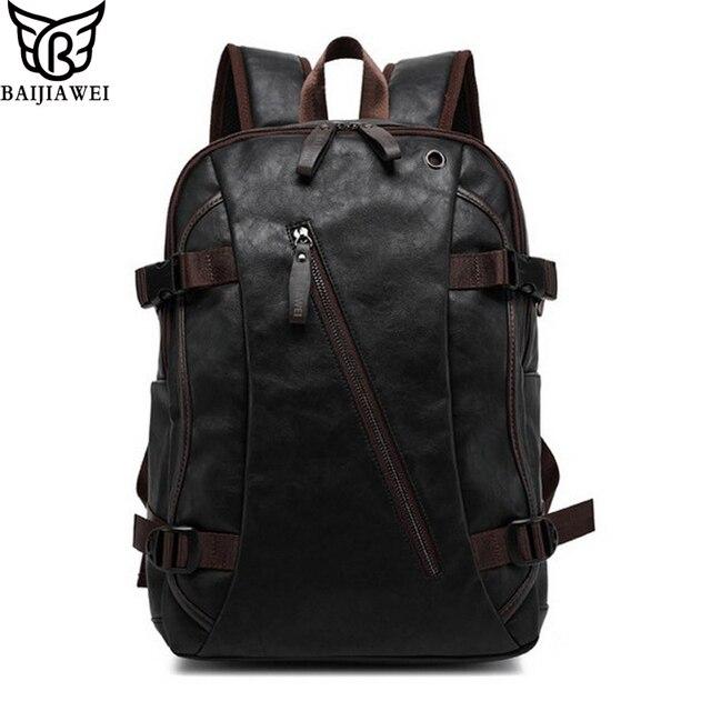 Baijiawei mix mix mochila ocasional dos homens de couro de vaca mochila de couro couro de boi & sacos de viagem saco do estilo college mochila zip