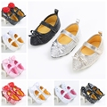 4 Estilo Princesa Niñas Zapatos Infantiles Suaves Del Bebé Calzado Niñas Mary Jane Shoes Zapatilla Moda Vestido Recién Nacido Zapatos Del Holgazán