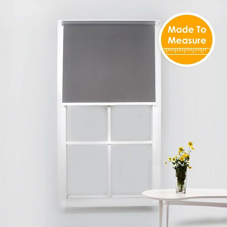 38mm rura aluminiowa z światła dziennego rolety do salonu wysokiej jakości światła filtrowania dla dużych zacienienie okna dostosowany rozmiar w Rolety, żaluzje i zasłony od Dom i ogród na  Grupa 2