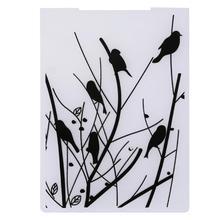Товары для птиц в филиалах Пластик Тиснение папка для Скрапбукинг DIY штамп/фотоальбом Декоративные штамп для изготовления Почтовые открытки
