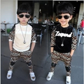 Baby Kids Tracksuit Fashion Leopard Grain Best Quality Velvet Hoodies + Pants Casual Boys Girls Sport Set Children Suit