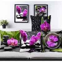 Pastorale Pure Purple Flower Black Stone Cuscini del Divano Cuscino di Tiro Per Soggiorno Poltrona Letto Personalizzato Casa Cuscini Decorativi