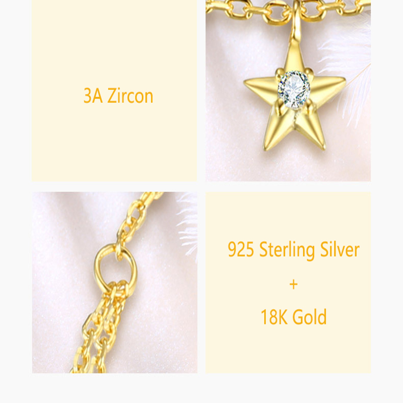 Jewelry & Accessories Qevila Fine Jewelry 100% 925 Sterling Silver Summer Ankle Bracelet Gold Anklet Elegant Star Foot Leg Chain Charm For Women Gift
