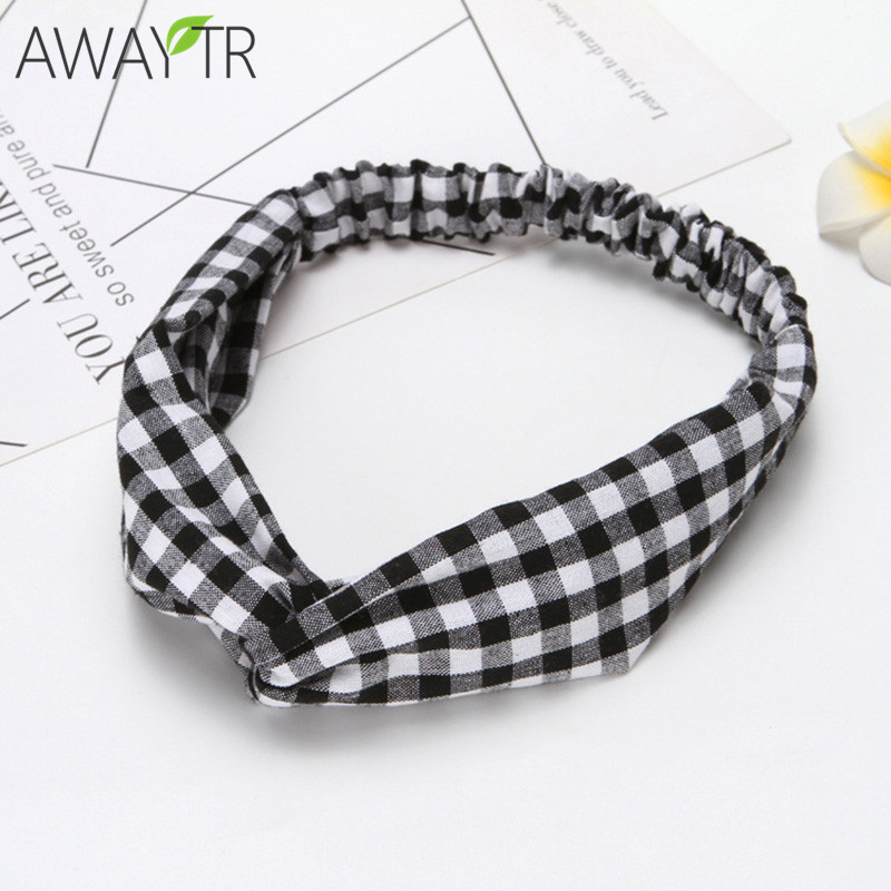 Girl's Accessories Cheap Price Patchwork Cross Headband Female Lady Top Knotted Hair Band Wide Turban Girls Simple Hair Hoop Women Hair Accessories Headwear Fashionable And Attractive Packages Girl's Hair Accessories