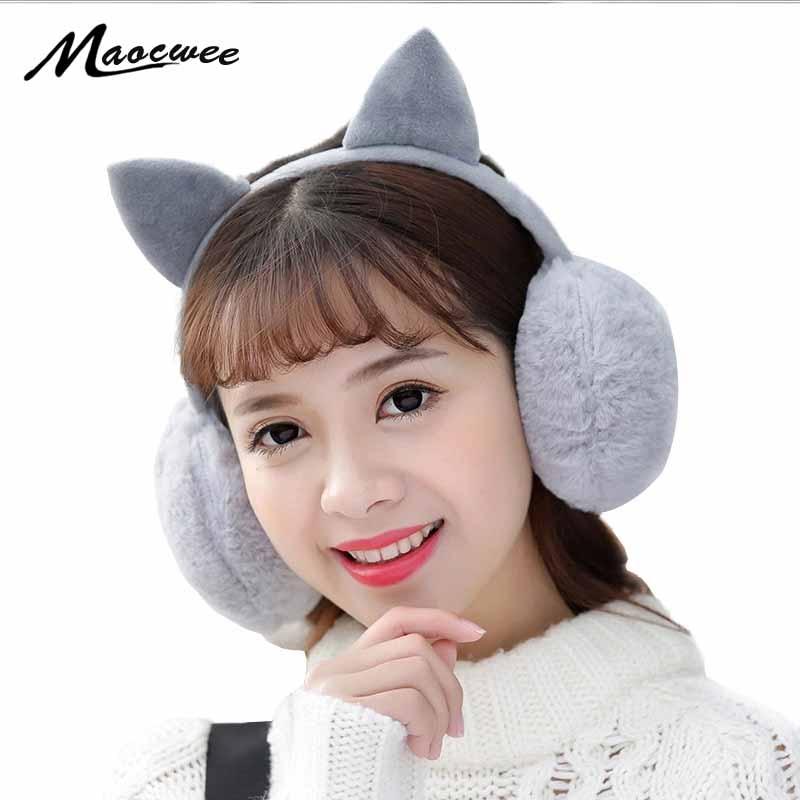 Female Winter Earmuff Warm Ear Muffs Headphones Girls Earmuffs High Quality Cat Shape Earmuff For Women Earmuff Protection Ear