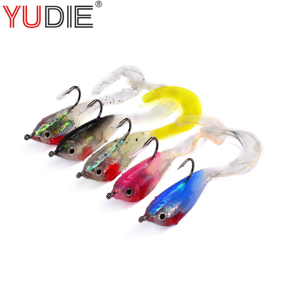 1Pcs 5.1cm 5g High Quality Soft Minnow Lure With Hooks Fishing Silicone Bait For Crap Fishing Tackle Wobblers Crankbait 5 Colors 10pcs 7 5cm soft lure silicone tiddler bait fluke fish fishing saltwater minnow spoon jigs fishing hooks