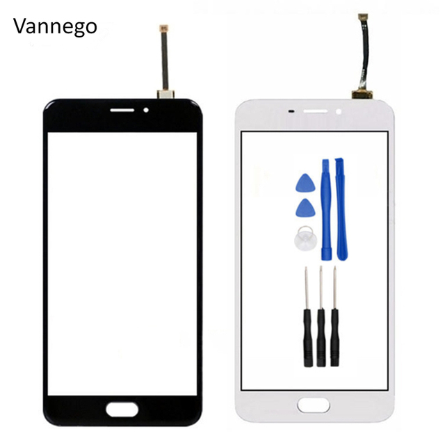 "Vannego Touch Panel For Meizu M5 note 5.5"" Touch Screen Digitizer Front Outer Front Glass Lens Sensor + tools free shipping"