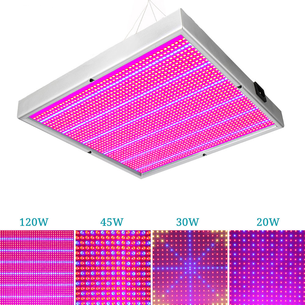 20W/30W/45W/120W/200W Led grow Panel light Full Spectrum for indoor greenhouse plants flowers grow tent hydroponics Plant light 20w 30w 120w led plant grow panel light hydroponics lamps ac85 265v smd3528 for greenhouse flowering plant indoor grow box