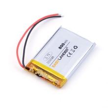 Substituir para Telefone Li-ion 553048 3.7 V 800 Mah Lipo Bateria Mp4 Gps E-book Bluetooth Speaker Brinquedos Câmera