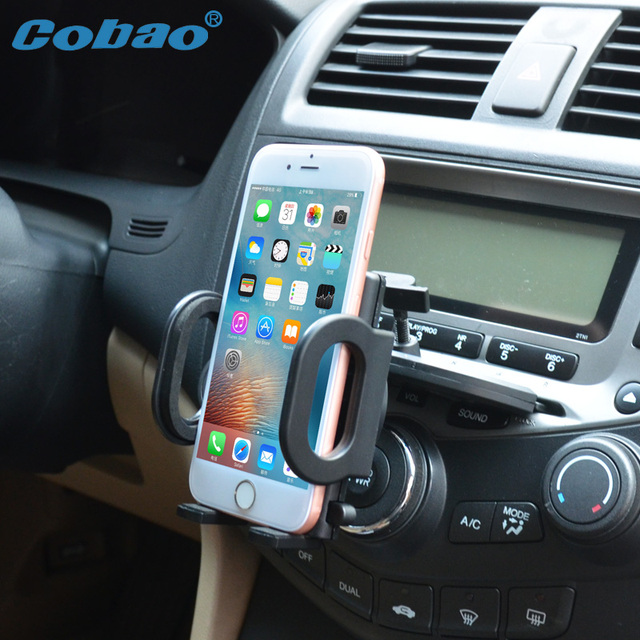 Cobao universal car phone holder CD slot holder stand for