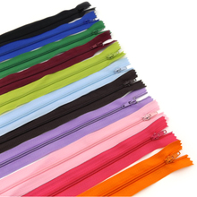 22pcs Free shipping candy Colors  20cm Nylon Coil Beautiful Zippers for DIY bag etc Tailor Sewer Craft Retail handm
