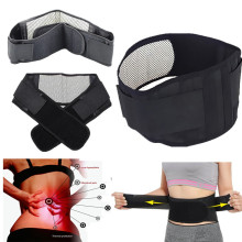 Adjustable tourmaline self-heating magnetic therapy belt waist support back double