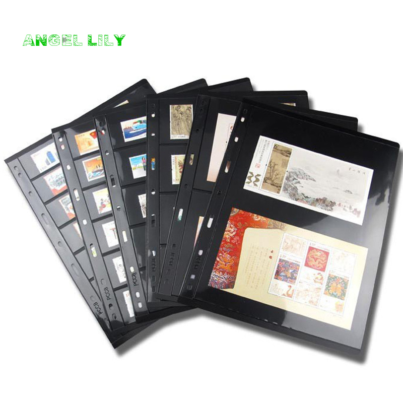 pccb Mingtai 9 holes postage stamp brands album pages sheets loose leaf font b PET b