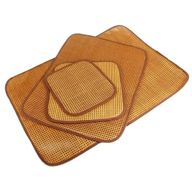 Собака Самоохлаждением коврик для питомников ящики и кровати Бамбук льда коврик для поддержания охладитель собак спать в лето