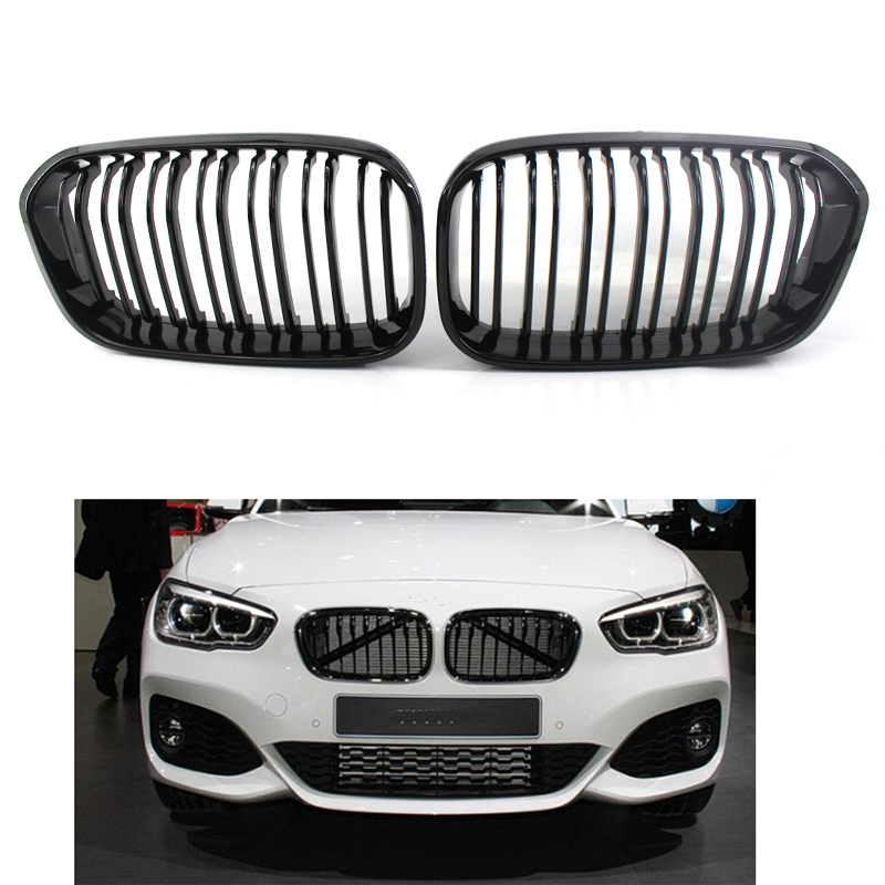 Kidney Racing Grill Grille Doubleline for BMW F20 F21 1 Series 2015 2016 120i 118i image