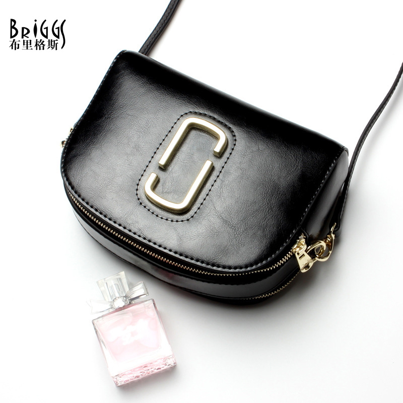 BRIGGS Women Messenger Bag Fashion Designer Handbag Genuine Leather Shoulder Bags High Quality Vintage Women Crossbody Bags