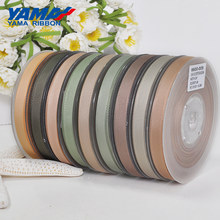 YAMA Dark Brown Ivory 25 28 32 38 mm 100yards/lot Grosgrain Ribbon for Gift Diy Dress Wedding Decoration Craft Wrapping Ribbons