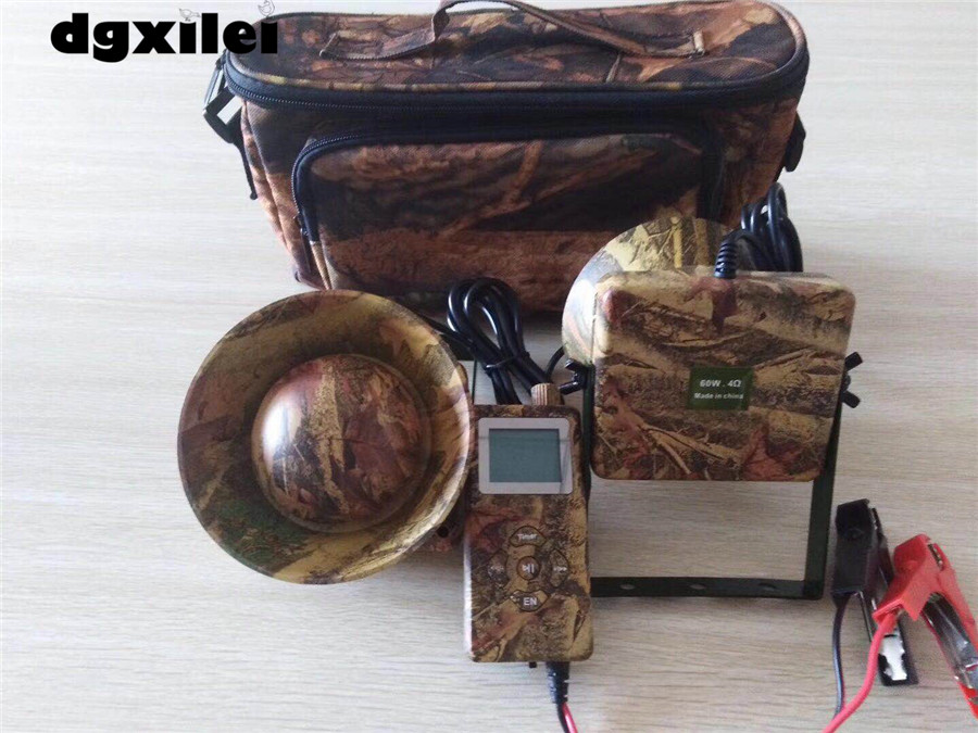 2018 nouveau 300 sons 2*60 W haut-parleur externe avec minuterie on/off électronique mp3 chasse oiseau appelant turquie chasse leurres