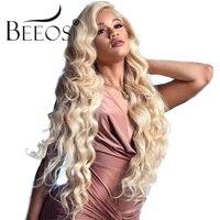 150 плотность 613 блондинка Синтетические волосы на кружеве человеческих волос парики предварительно сорвал волосяного покрова бразильский