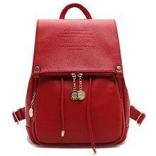 Женщины рюкзаки кожа женщин случайные женщины рюкзак молнии back pack сумки для подростков девушки студенческая школа дорожная сумка mochila