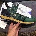 Новых листинговых дизайнер бренда бабочка спайк ногтей шить случайные женские спортивная обувь повседневная обувь размер: 35-44