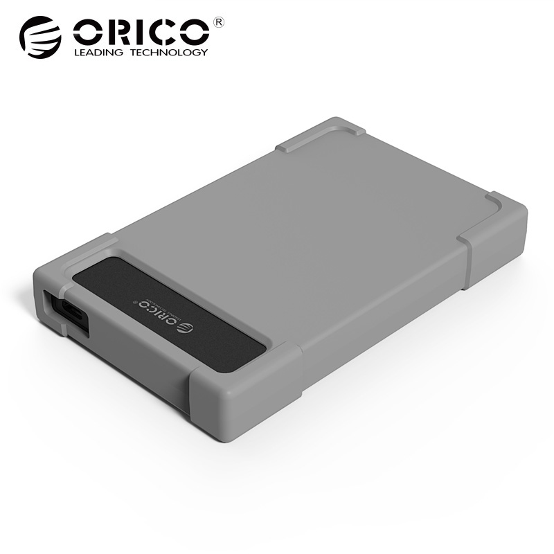 Orico ABS Fireproof material Hard Drive box with USB3.0 5Gbps 0.5m Cabel Length Silicone HDD Case