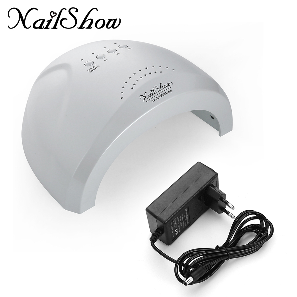 SUNone Nail Dryer LED UV Lamp Nail 24W/48W Beauty Salon Makeup Cosmetic Nail Dryer Polish Machine for Curing Nail Art Tools mdskl 48w led uv lamp nail dryer self clocking a minute of rapid drying golden electric nail art tools exemption from postage