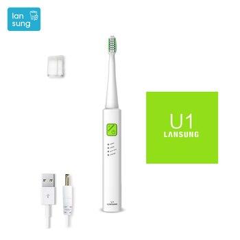 Dientes eléctrico Lansung u1 ultrasónico Cepillo de dientes eléctrico  Cepillo Dental higiene Oral 01 06e64ae9fa0b