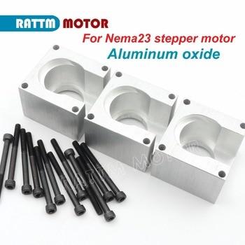 3 unids Nema23 soportes de Motor soporte 57 paso a paso Motor de tornillo de instalación de óxido de aluminio de RATTM MOTOR