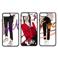 Fashion Dress Girls Chinese Artist Painting Beauty Young Design Love Phone Case For IPhone X 7