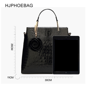Image 2 - HJPHOEBAG Womens large capacity crocodile pattern handbag casual crocodile shoulder bag Messenger bags ladies bolso mujer YC194