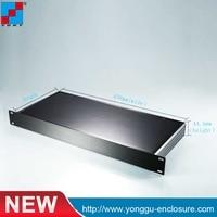 YGH 001 1u 482 44 5 250mm 19 1U Hard Aluminum Instrument Beauty Case With Flat