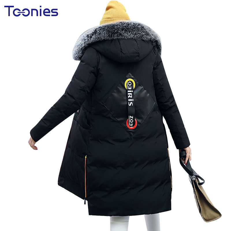 Winter 2017 New Style Hooded Feathers Zippers Medium-length Plus Size Casual Thickening Jackets Slim Cotton Padded Parkas Coats plus size 3xl ladies new fashion winter coats 2017 casual parkas mujer outwear female hooded cotton padded medium jackets cm1754