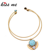 KISS ME NEW Choker Necklace 2PCS/Set High Quality Fashion Jewelry Women Accessories Vintage Necklace