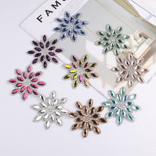 Patchs de fleurs en cristal, 1 pièce/lot, application de strass correcteurs pour vêtements/sac/chaussures, bijoux, accessoires pour vêtements pour enfants et femmes