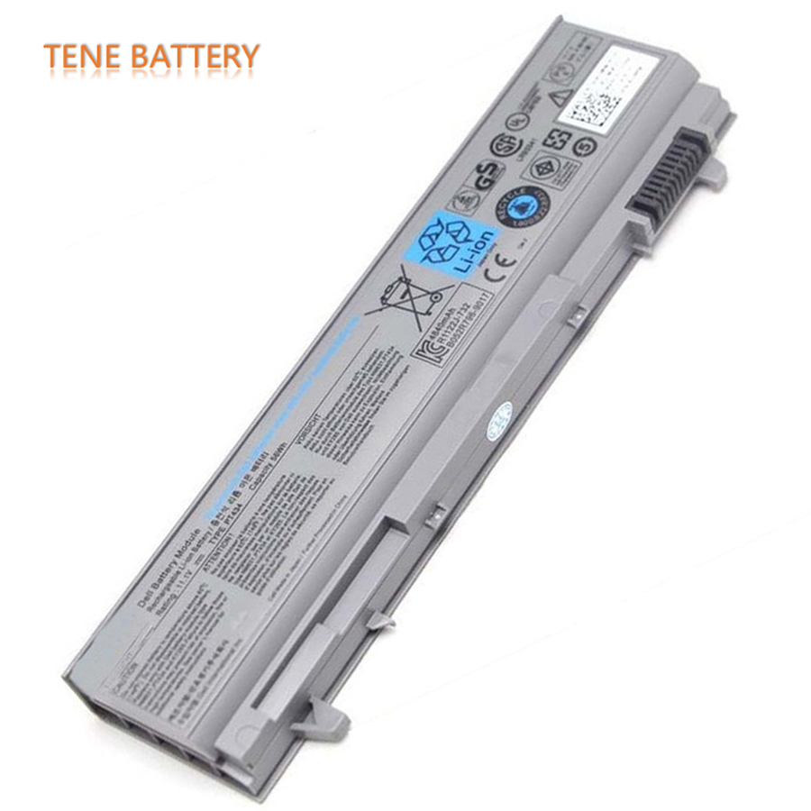 56Wh Original Laptop Battery PT434 E6400 for DELL Latitude E6410 E6510 E6400 E6500 M2400 M4400 M6400 PT434 W1193 KY477 U844G english backlit keyboard for dell latitude e6400 e6410 e5500 e5510 e6500 e6510 precision m2400 m4400 laptop us